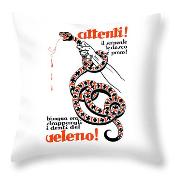 Attention The German Viper Is Taken Throw Pillow by War Is Hell Store