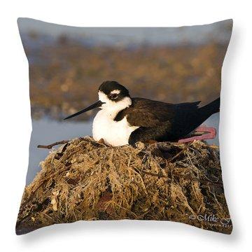 Attentive Parent Throw Pillow