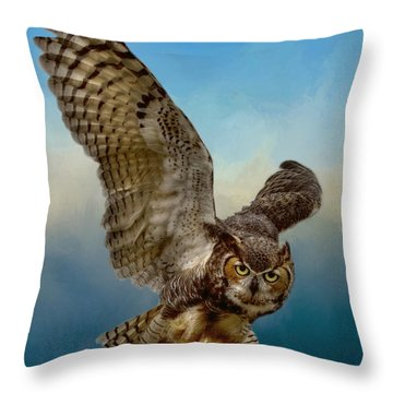 Attitude Is Everything Throw Pillow by Myrna Bradshaw