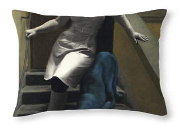 Attraction The Stairs Of Love Throw Pillow by Kelly Borsheim