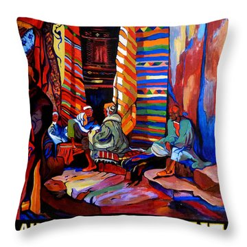 Au Bon Marche Throw Pillow