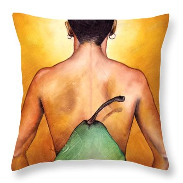 Au Naturel Throw Pillow by Christopher Marion Thomas