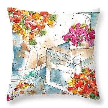 Au Nom De La Rose Throw Pillow
