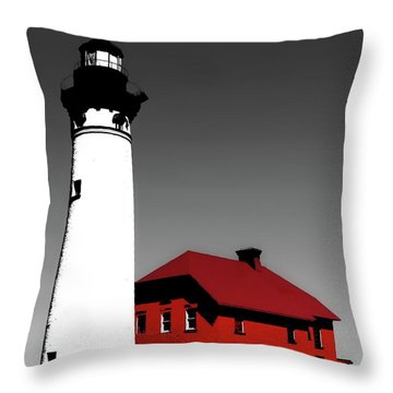 Au Sable Point Light Sc Throw Pillow by Tim Richards