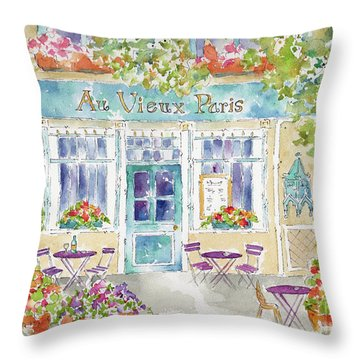 Au Vieux Paris Throw Pillow