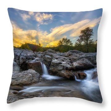 Throw Pillow featuring the photograph Auasble River Sunset 2 by Mark Papke