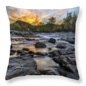 Throw Pillow featuring the photograph Auasble River Sunset by Mark Papke