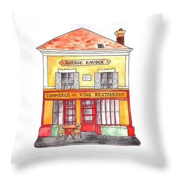 Auberge Ravoux Throw Pillow