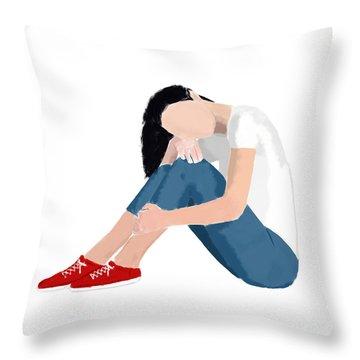 Throw Pillow featuring the digital art Aubrey by Nancy Levan
