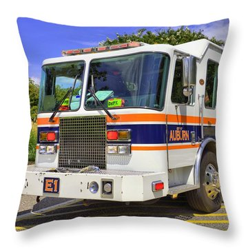 Auburn Fire Department  Throw Pillow