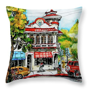 Throw Pillow featuring the painting Auburn Historical by Terry Banderas