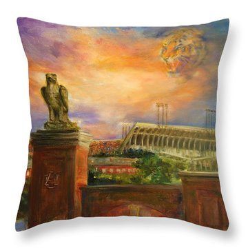 Auburn Skies Throw Pillow by Ann Marshall Bailey