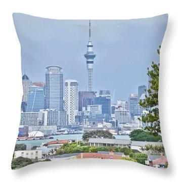 Auckland City C B D Throw Pillow