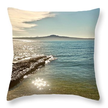 Auckland Harbour On A Winter's Afternoon Throw Pillow
