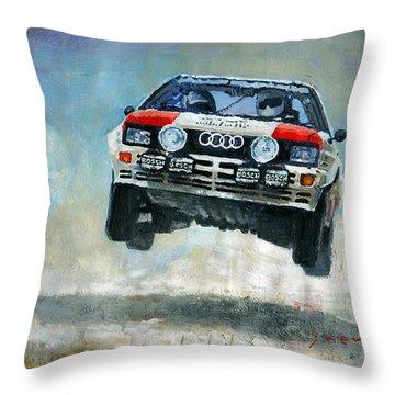 Audi Quattro Gr.4 1982 Throw Pillow by Yuriy Shevchuk
