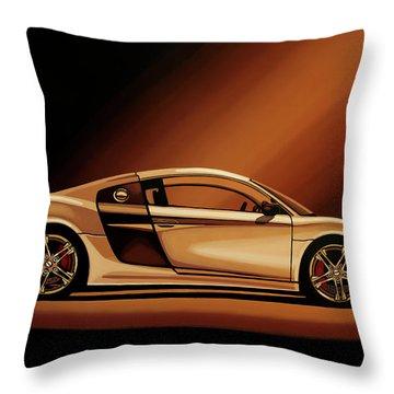 Audi R8 2007 Painting Throw Pillow
