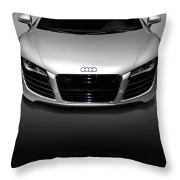 Audi R8 Sports Car Throw Pillow