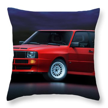 Audi Sport Quattro Throw Pillow