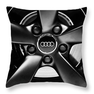 Audi Wheel  Monochrome Throw Pillow