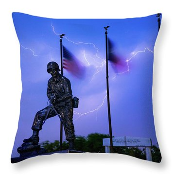Audie Murphy Throw Pillow