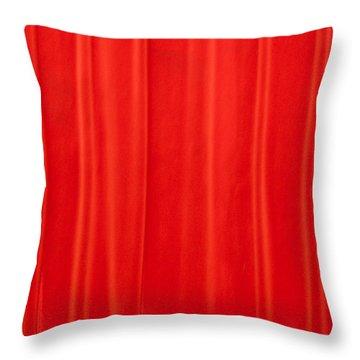 Auditorium Curtain Throw Pillow