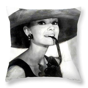 Audrey Hepburn 2 Throw Pillow