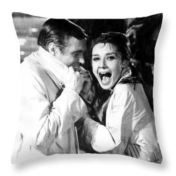Audrey Hepburn As Holly Golightly Throw Pillow