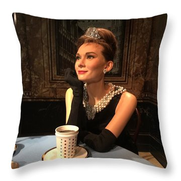 Audrey Hepburn Throw Pillow by Kay Gilley
