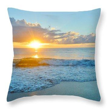 August 12 Nags Head, Nc Throw Pillow