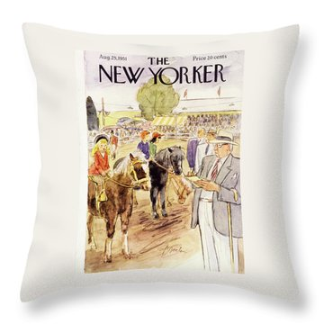 New Yorker August 25 1951 Throw Pillow
