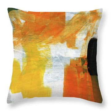 August- Abstract Art By Linda Woods. Throw Pillow
