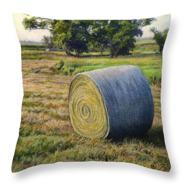 August Bale Study No.1 Throw Pillow