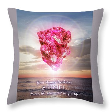 August Birthstone Spinel Throw Pillow