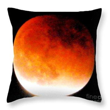 August Eclipse Tucson, Az Throw Pillow