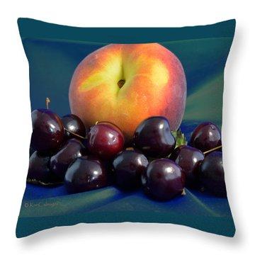 August Fruits Throw Pillow