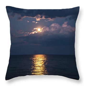 August Full Moon Throw Pillow