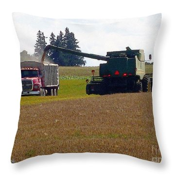 August Harvest Throw Pillow