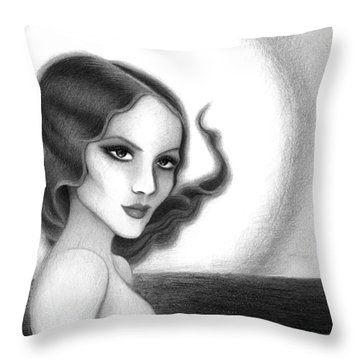 August Honey Colorless Throw Pillow