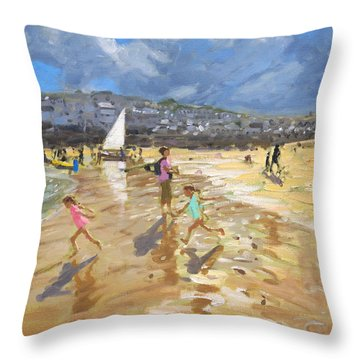 August In St Ives Throw Pillow