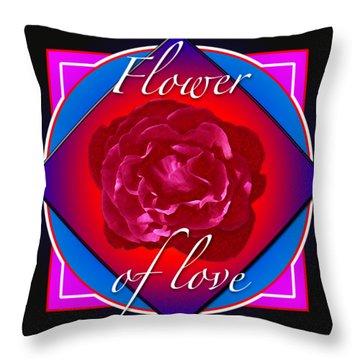 August Rose Throw Pillow
