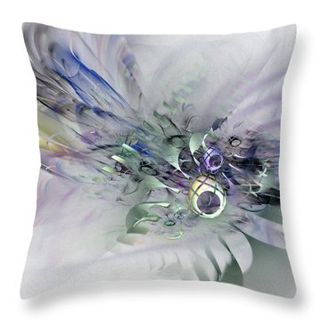 August Silk - Fractal Art Throw Pillow