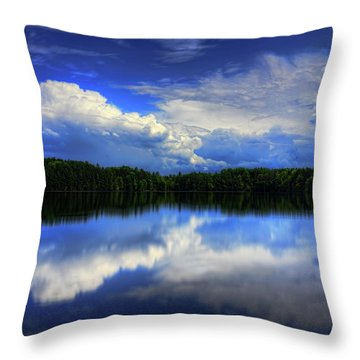 August Summertime On Buck Lake Throw Pillow