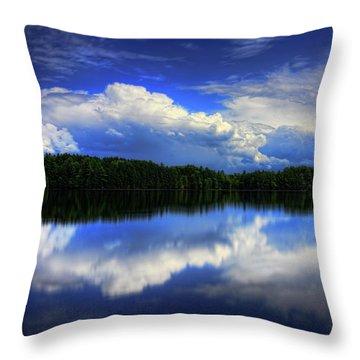 August Summertime On Buck Lake Throw Pillow