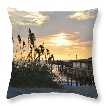 August Sunrise On The Obx  Throw Pillow
