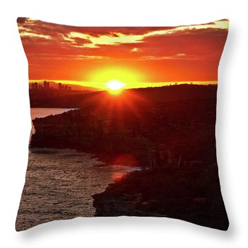 August Sunset From North Head Throw Pillow