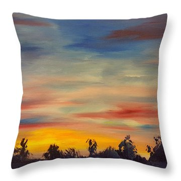 August Sunset In Sw Montana Throw Pillow