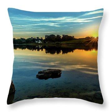August Sunset Throw Pillow