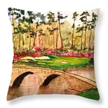 Augusta - 12th Hole Throw Pillow