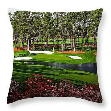 Augusta National Gc #16 Throw Pillow