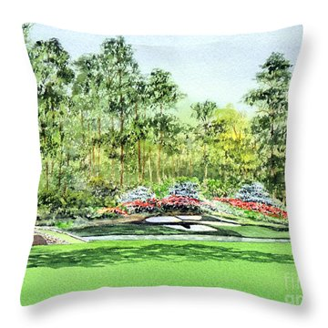 Augusta National Golf Course Throw Pillow by Bill Holkham